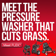 Meet the pressure washer that cuts grass. Meet FLEX.