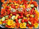 salad garnished with edible flowers.thumbnail Jazzy Garden Salad for Festive Occasions
