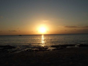 caribbean sunset 300x225 Re Energized and Back to the Garden