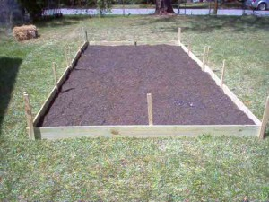garden bed construction 300x225 Garden Greetings from the Deep South