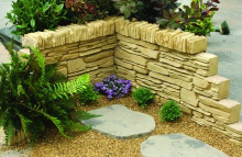 Garden Wall or Edging Stone Water Features to Accent the Home Garden