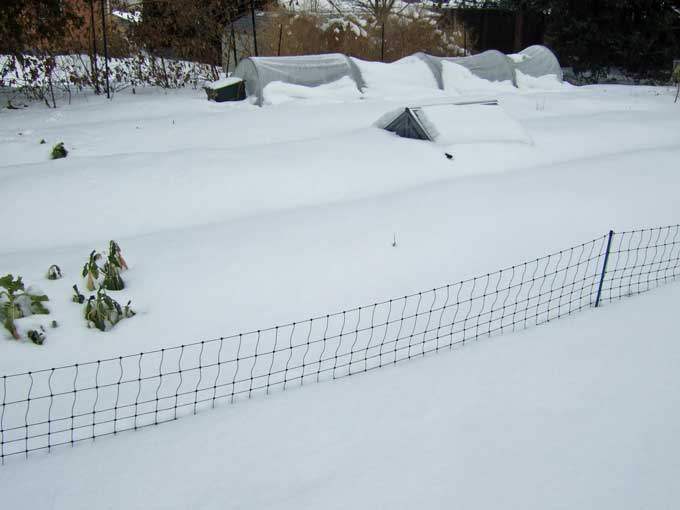 Snow Bound Garden Making Use of Snow in the Vegetable Garden