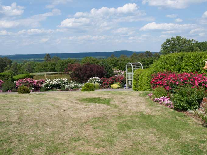 View from Rose Garden Moss Mountain Farm and the House that P Allen Smith Built