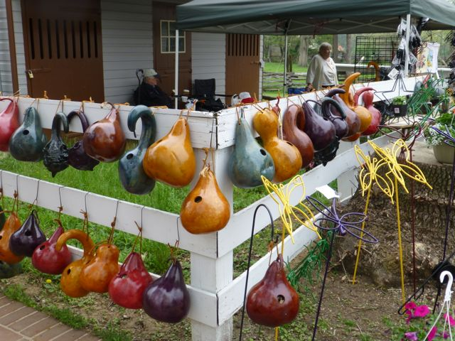 Birdhouse Gourds A Weekend at the Herb and Garden Faire