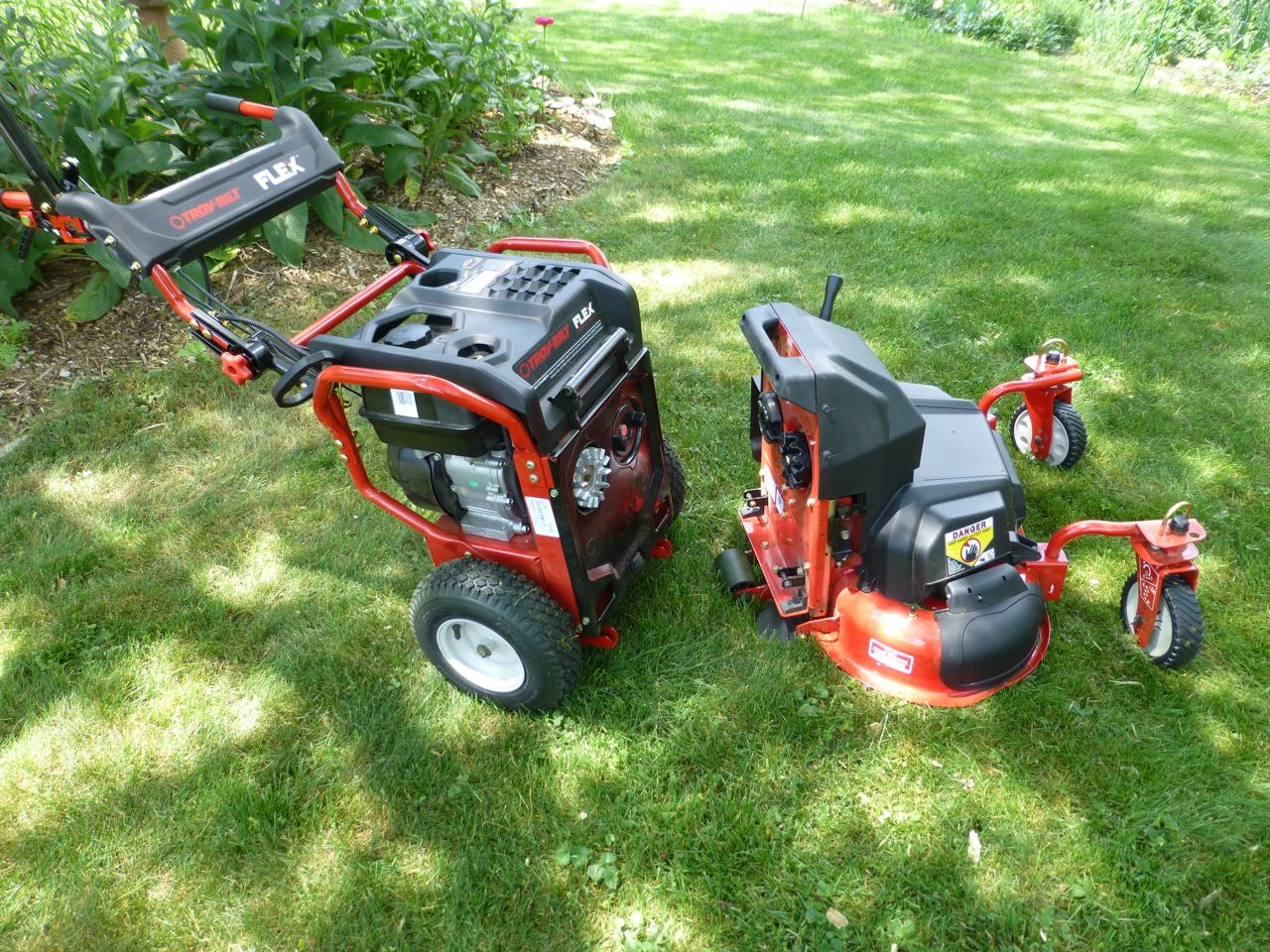 At Home With Flex Troy Bilt S New Yard Care System