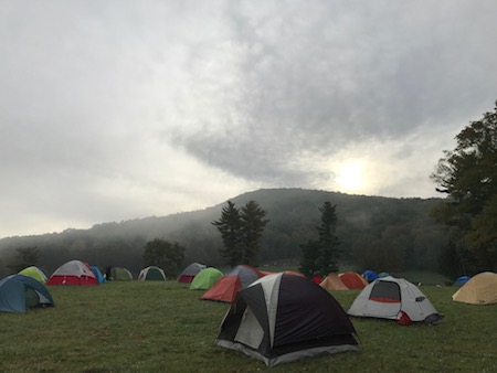 Sunrise over Campsites